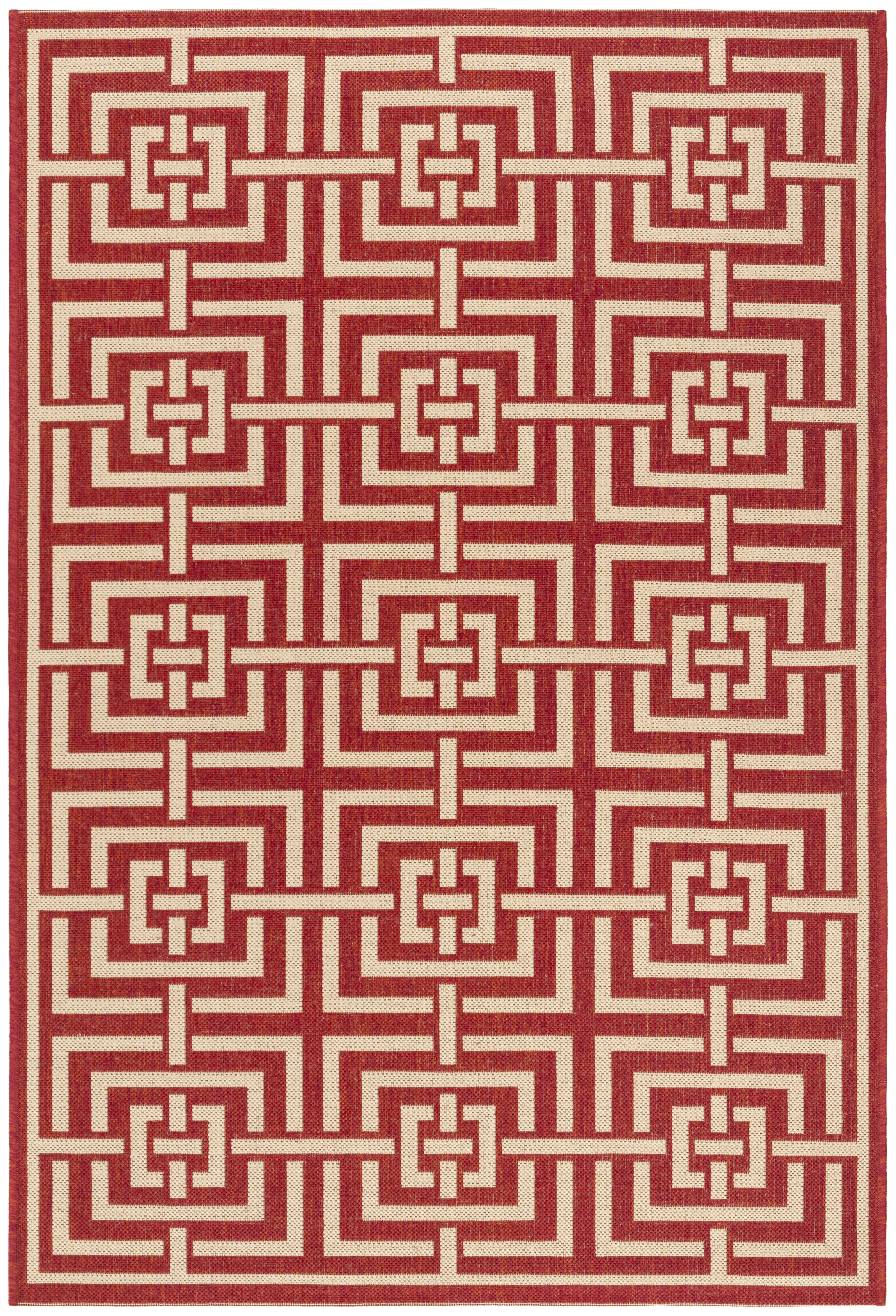 Laguna 128 3' X 5' Red Polypropylene Rug