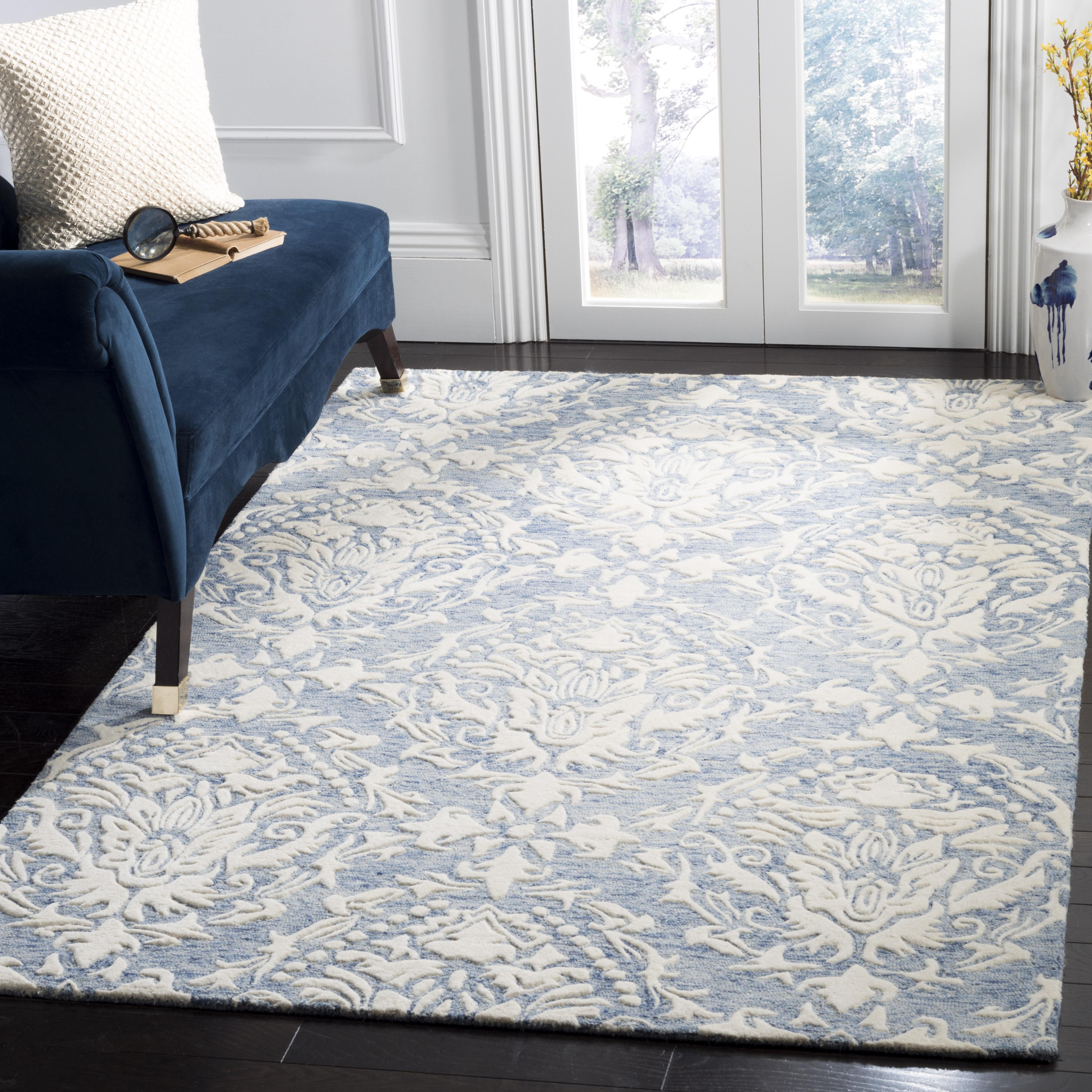Morgan 107 4' X 6' Blue Wool Rug