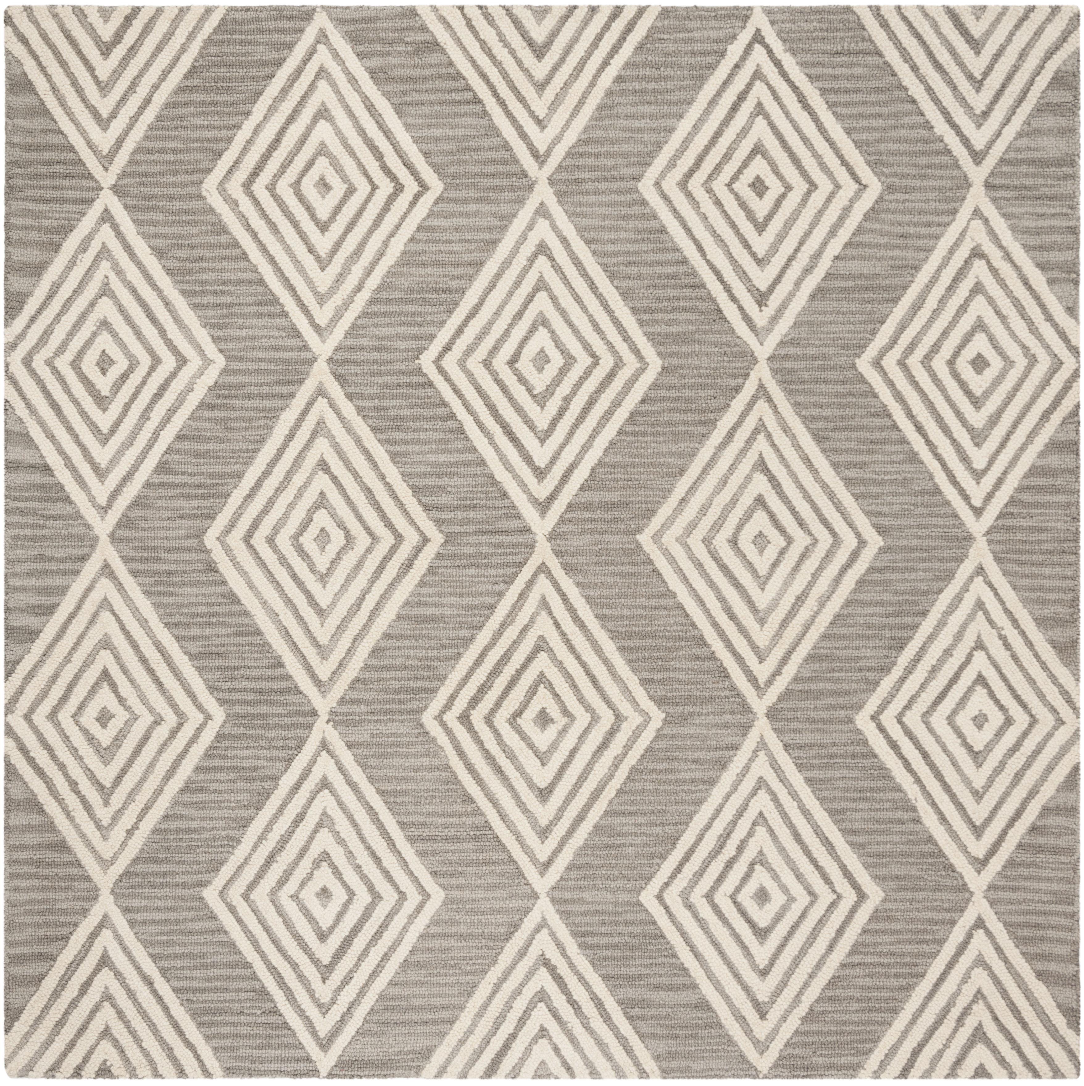 Morgan 111 6' X 6' Square Gray Wool Rug