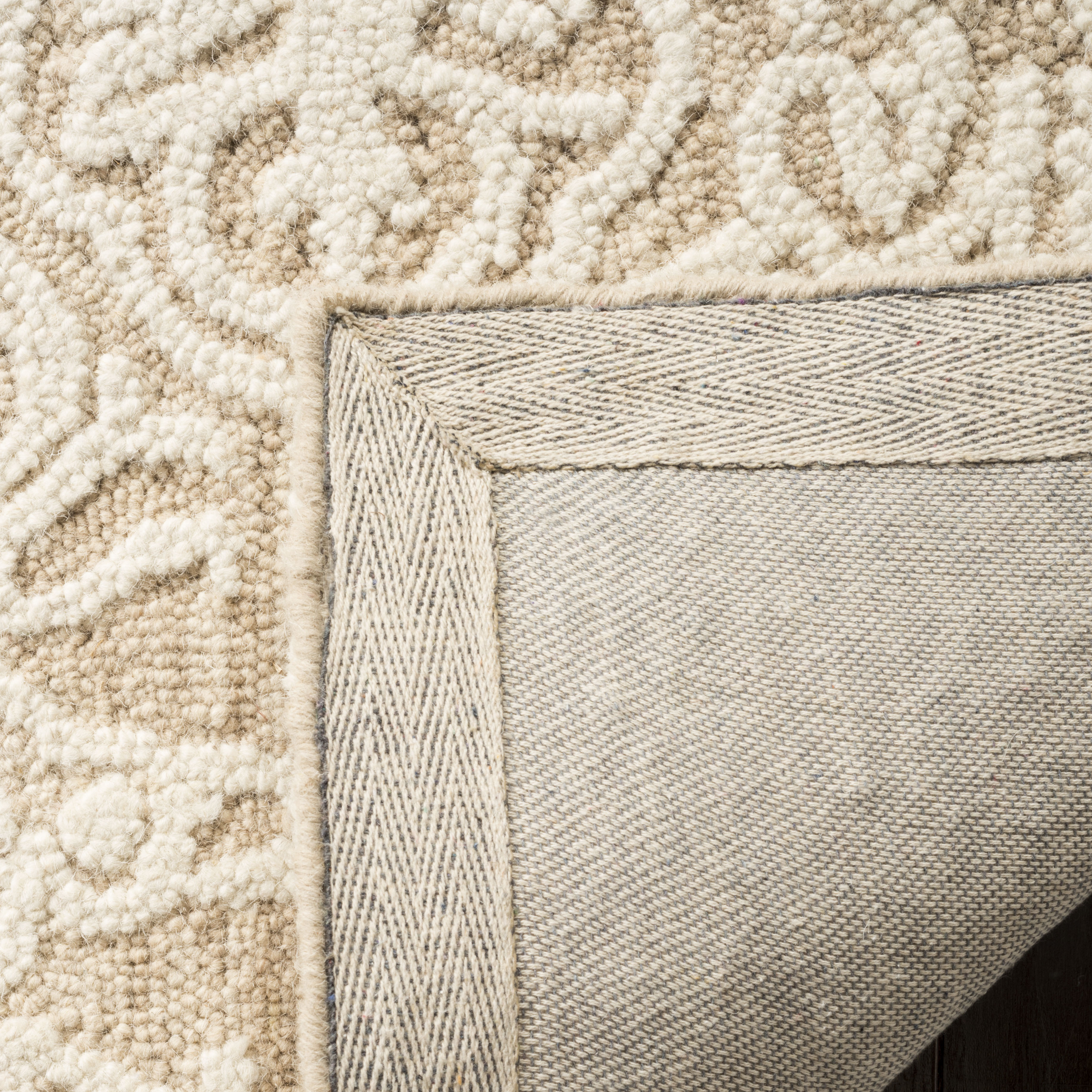 Morgan 112 8' X 10' Tan Wool Rug