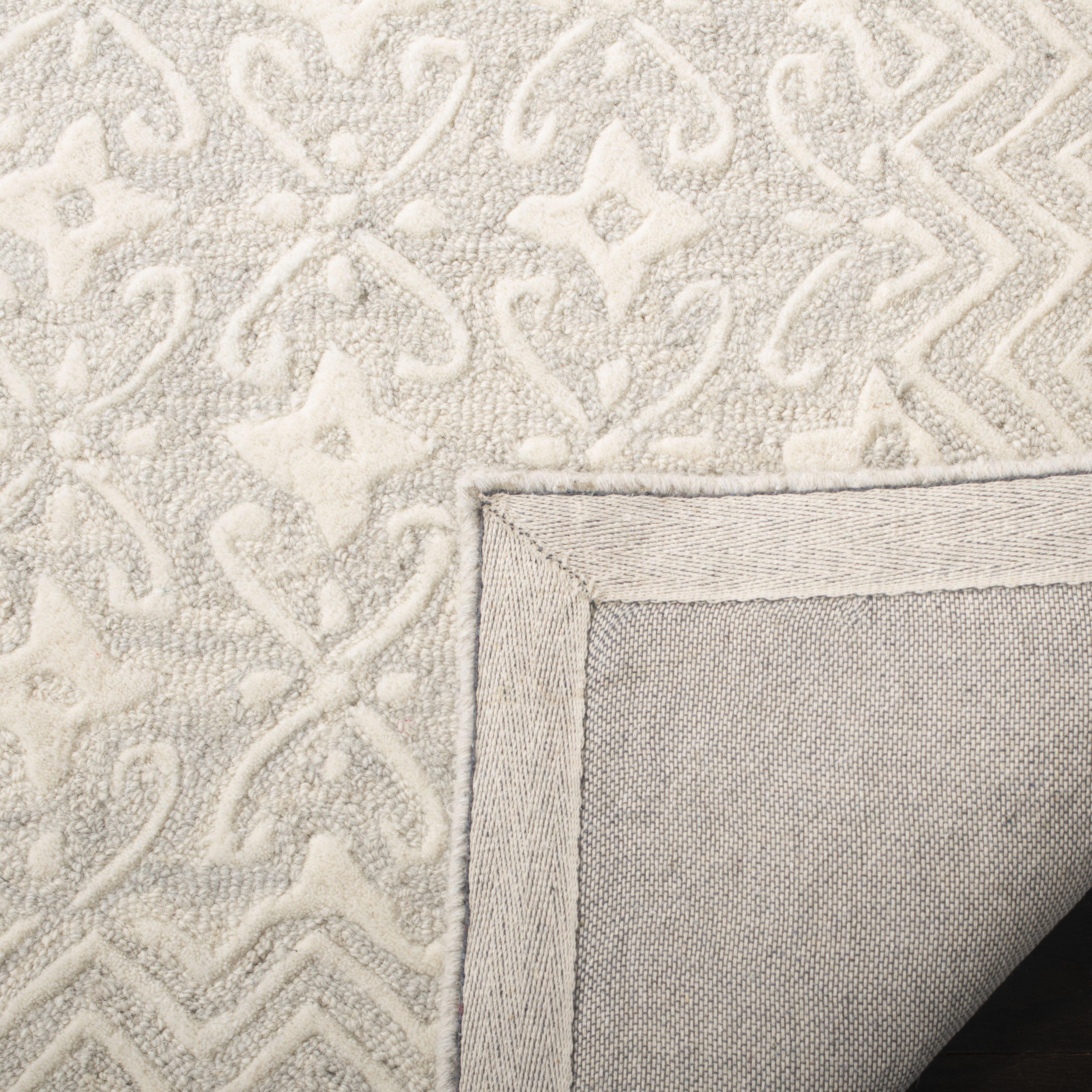 Morgan 114 5' X 8' Gray Wool Rug