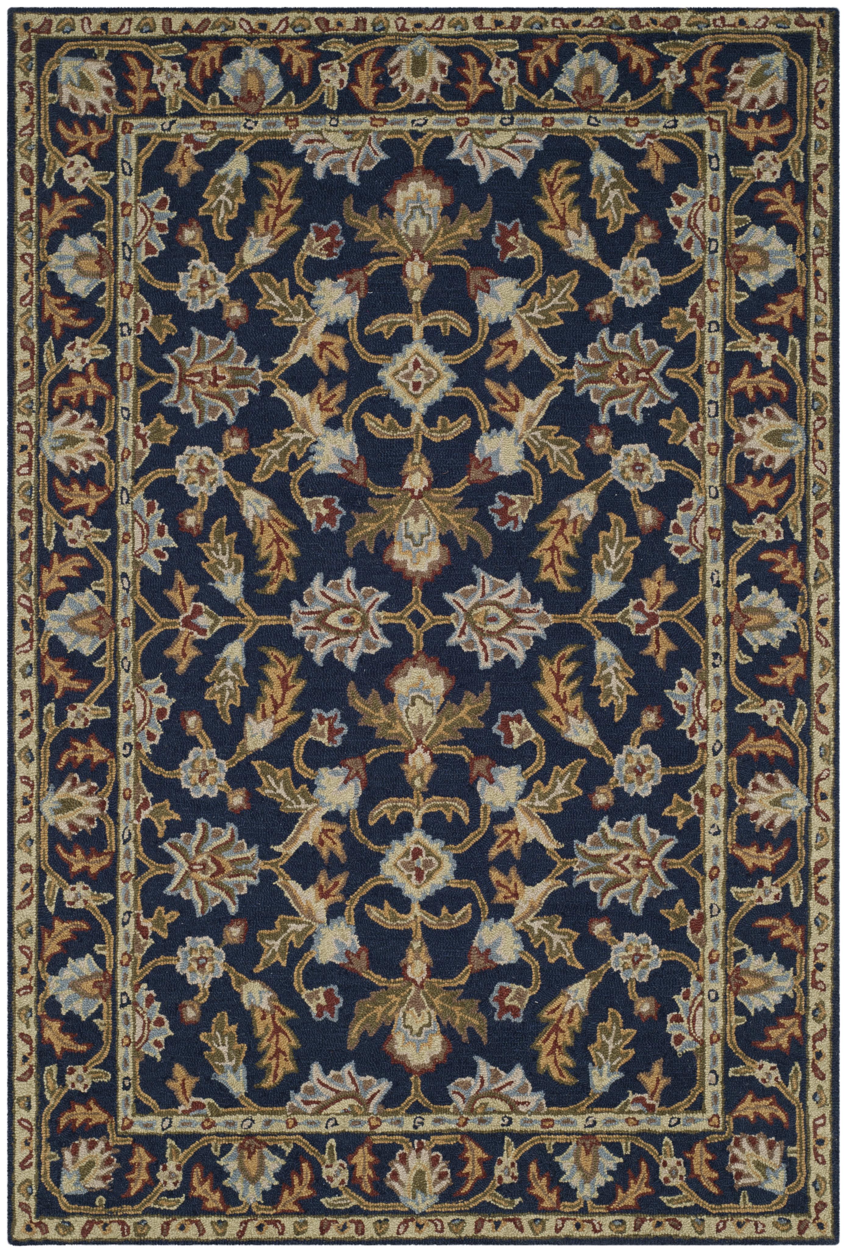 Morgan 219 4' X 6' Navy Wool Rug