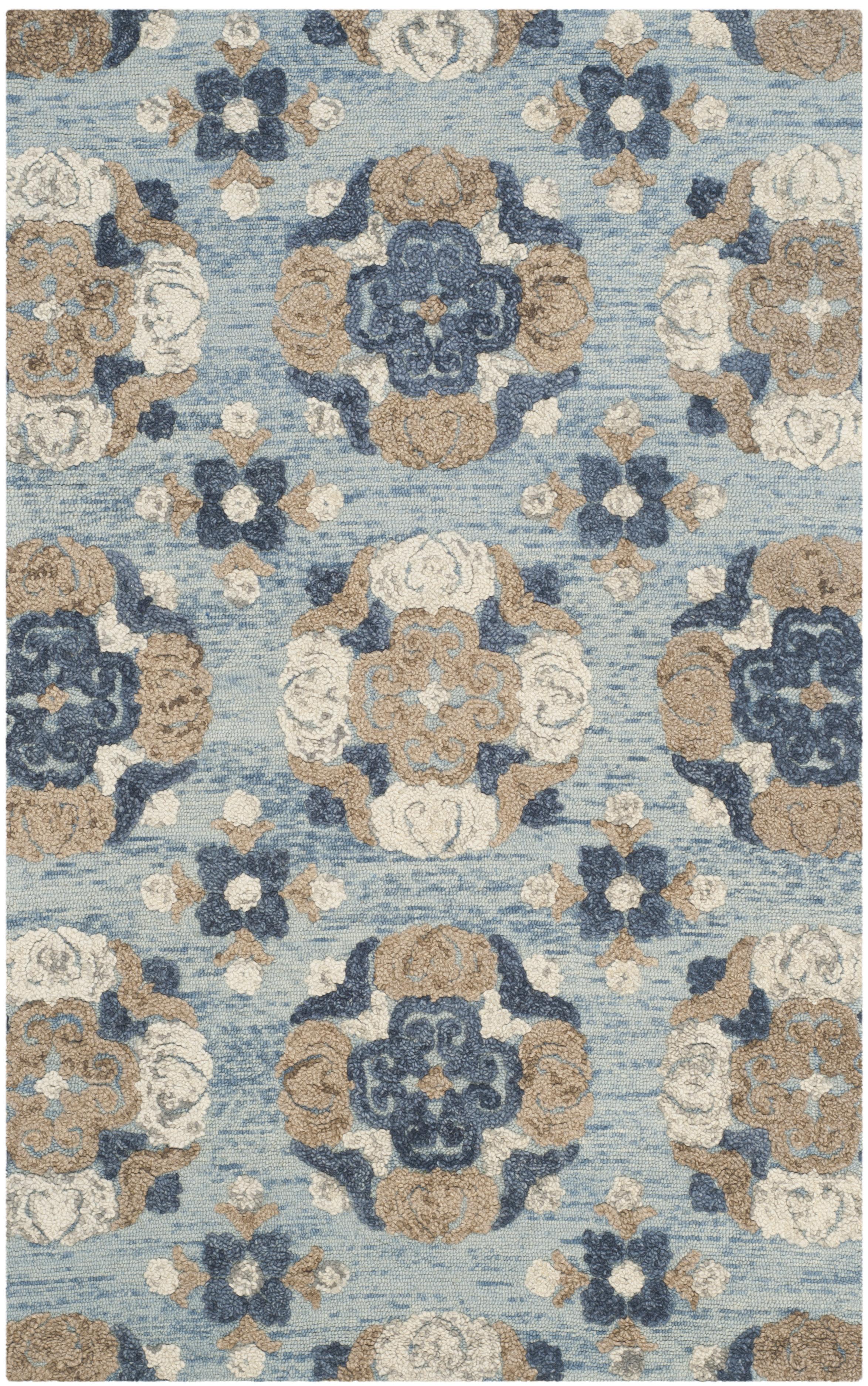 Morgan 403 5' X 8' Blue Wool Rug