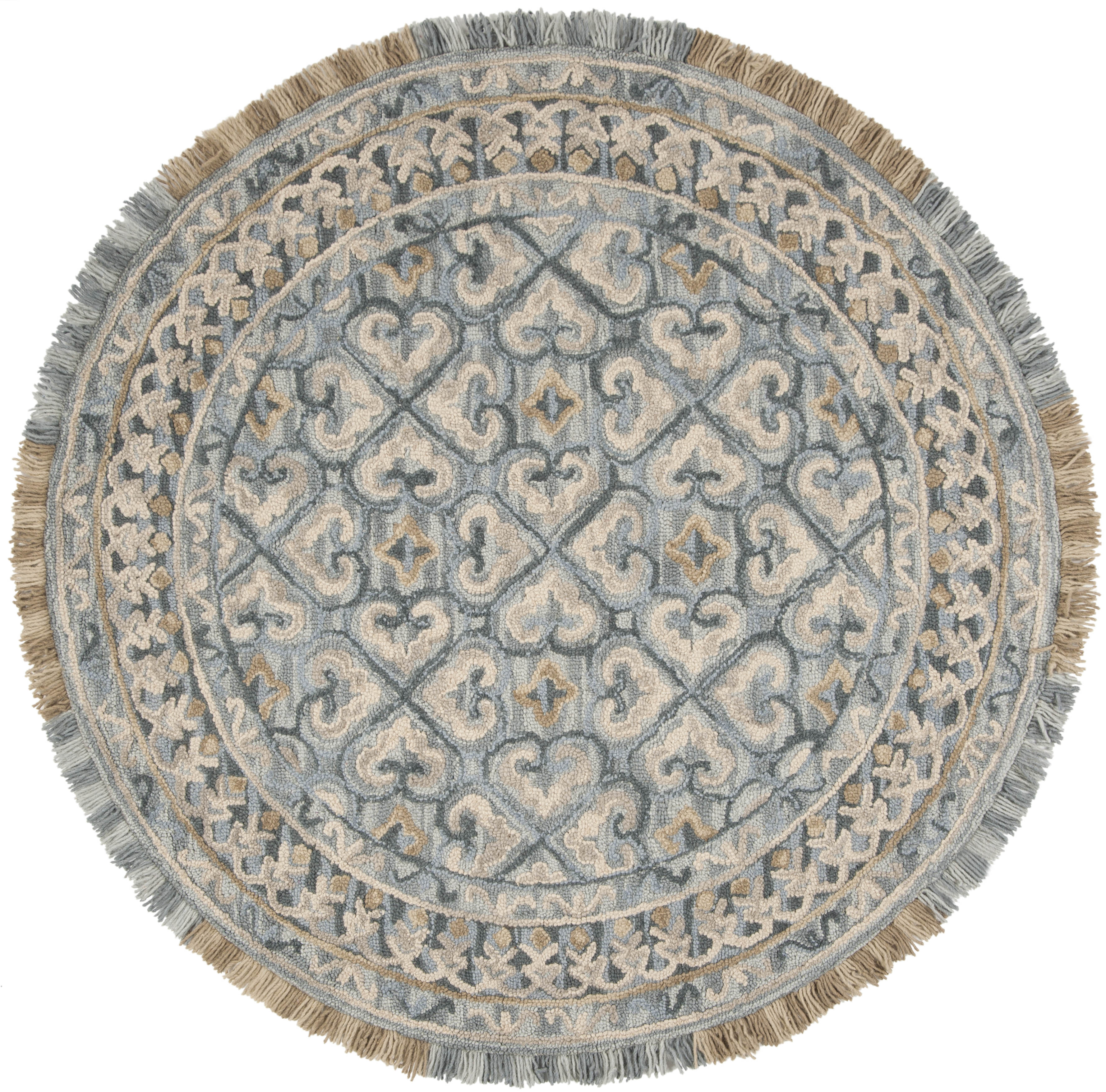 Morgan 420 6' X 6' Round Tan Wool Rug