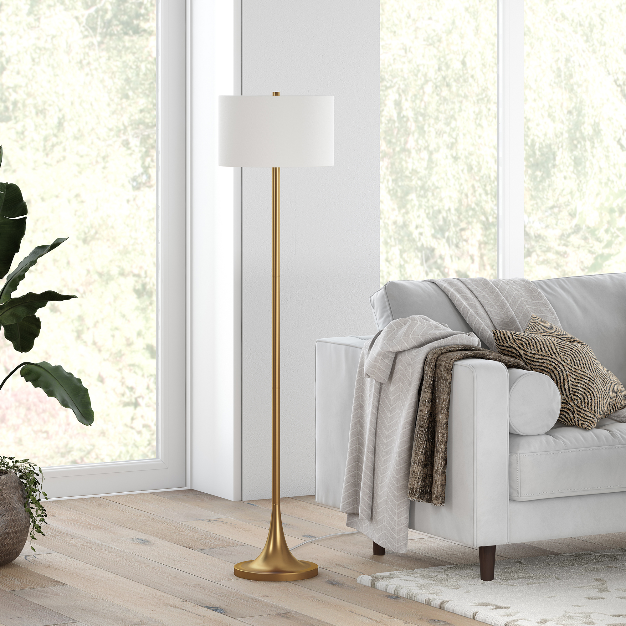Josephine Floor Lamp in Brass