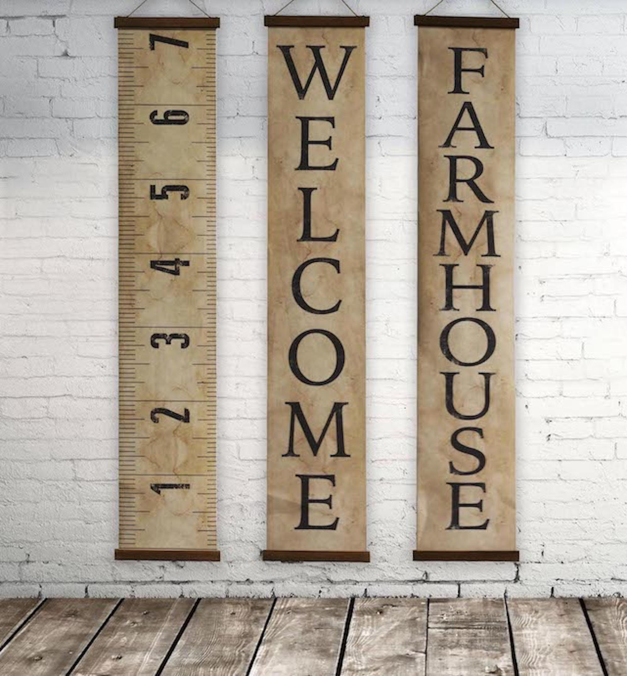 Decorative Canvas Farmhouse Banner