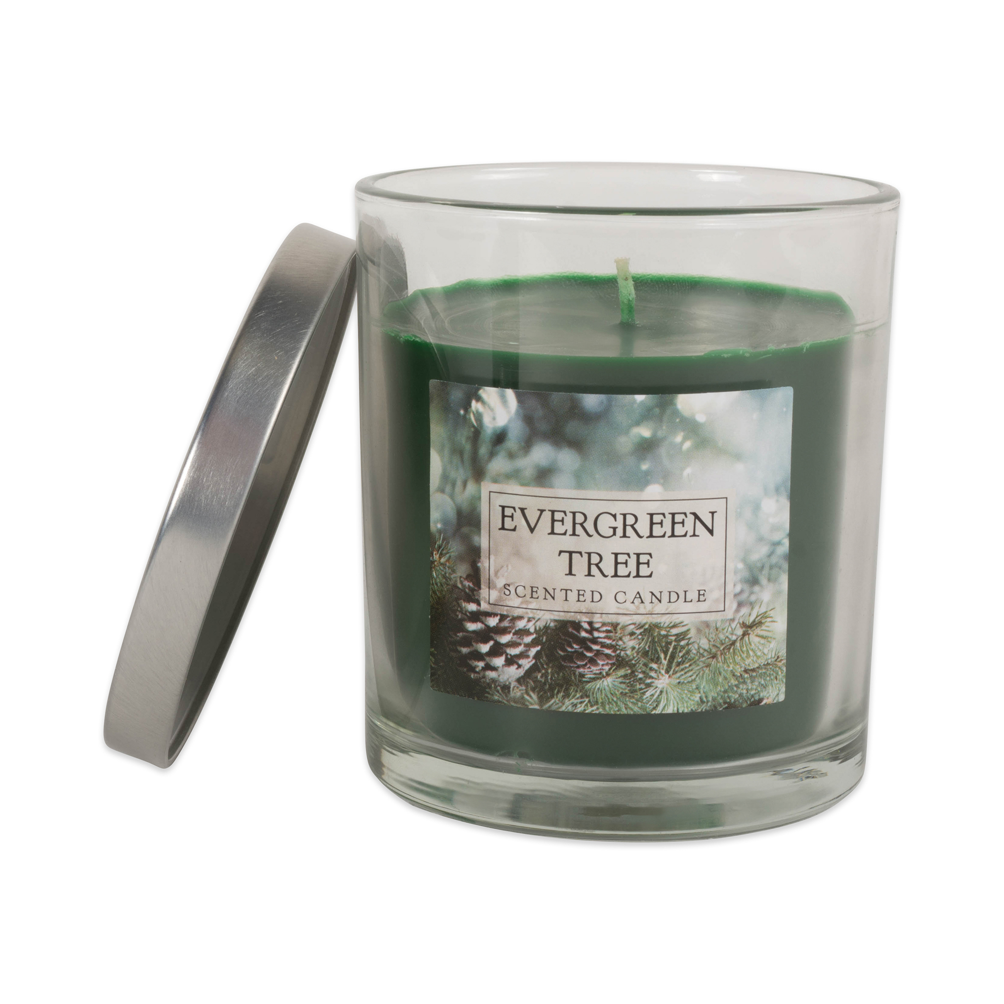 Evergreen Tree Single Wick Candle (Set of 2)