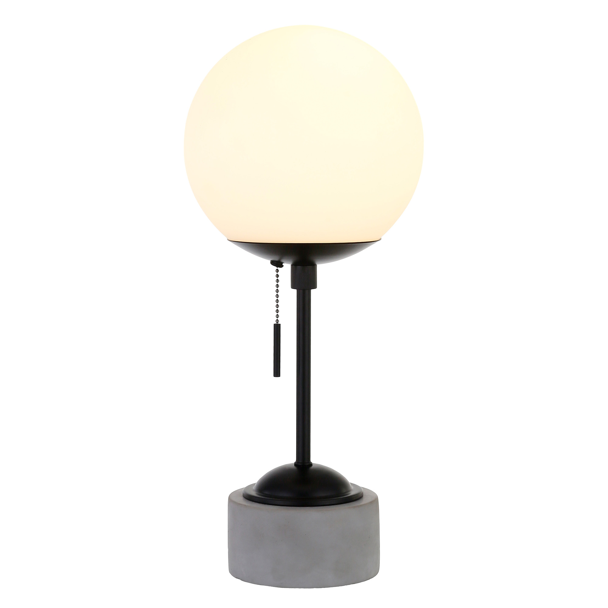 Ranae Table Lamp in Matte Black and Concrete
