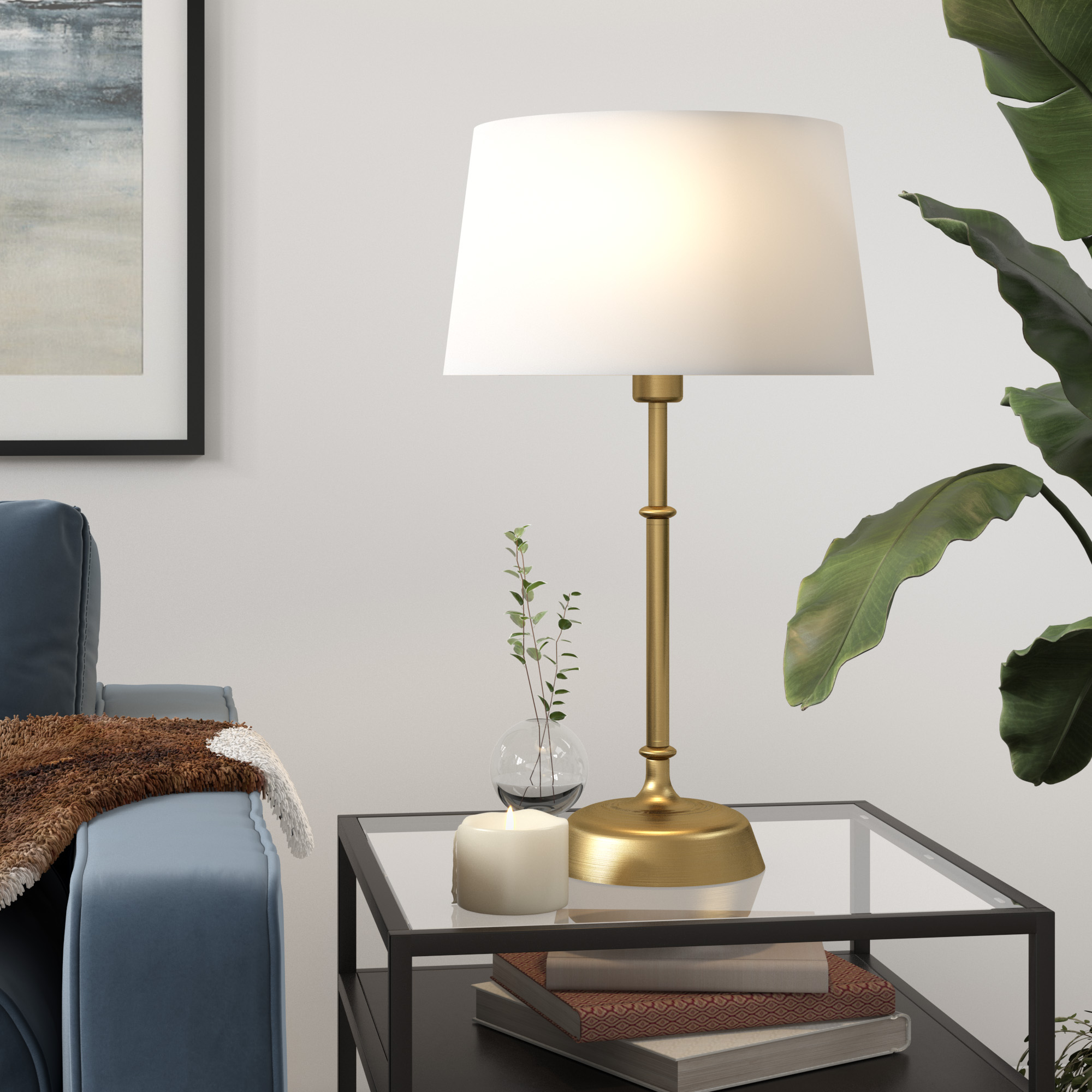 Suissa Table Lamp in Brass