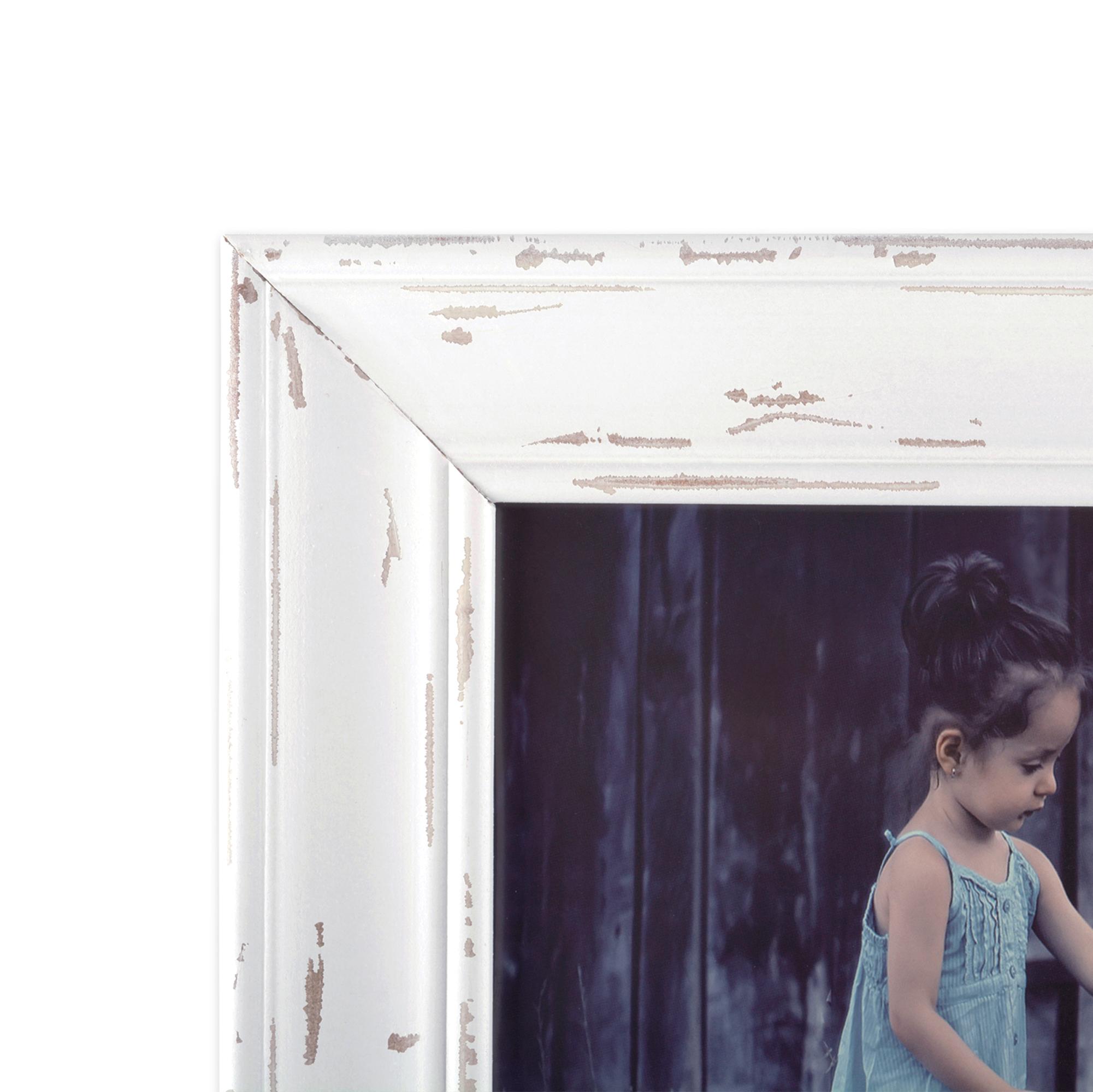 8x10 Distressed White Farmhouse Picture Frame