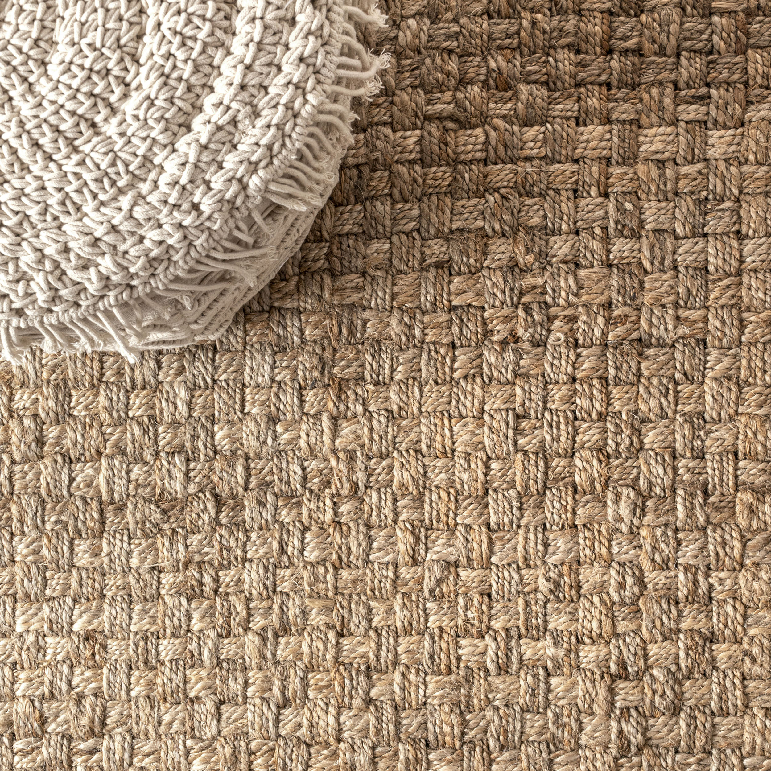 Estera Hand Woven Boucle Chunky Jute Natural 5 ft. x 8 ft. Area Rug