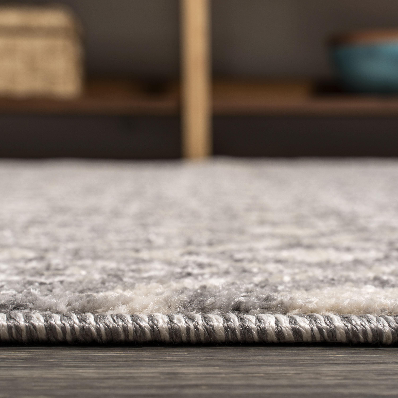 Ifrane Berber Geometric Stripe Gray/Cream 4 ft. x 6 ft. Area Rug