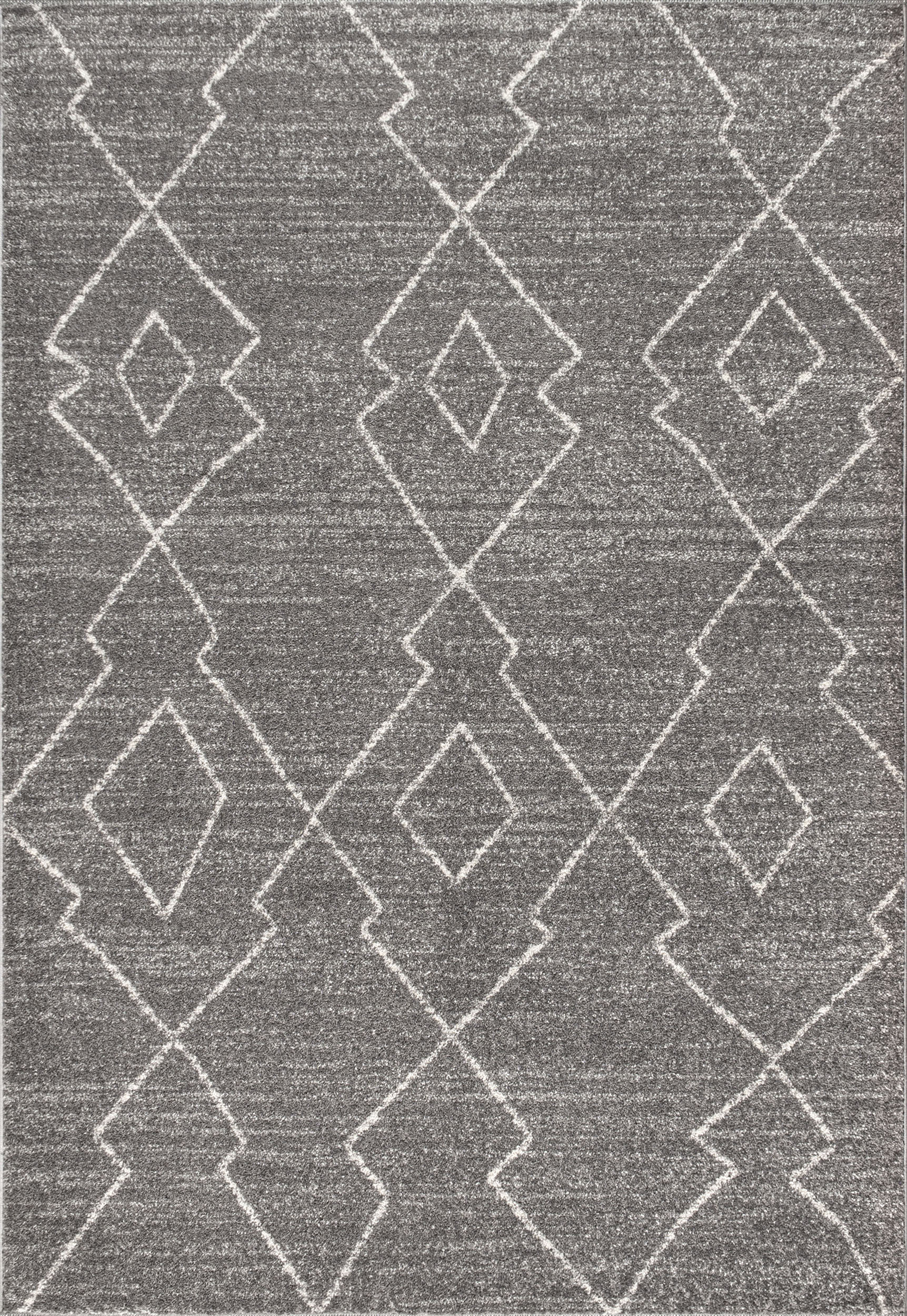 Alia Moroccan Beni Souk Gray/Cream 5 ft. x 8 ft. Area Rug