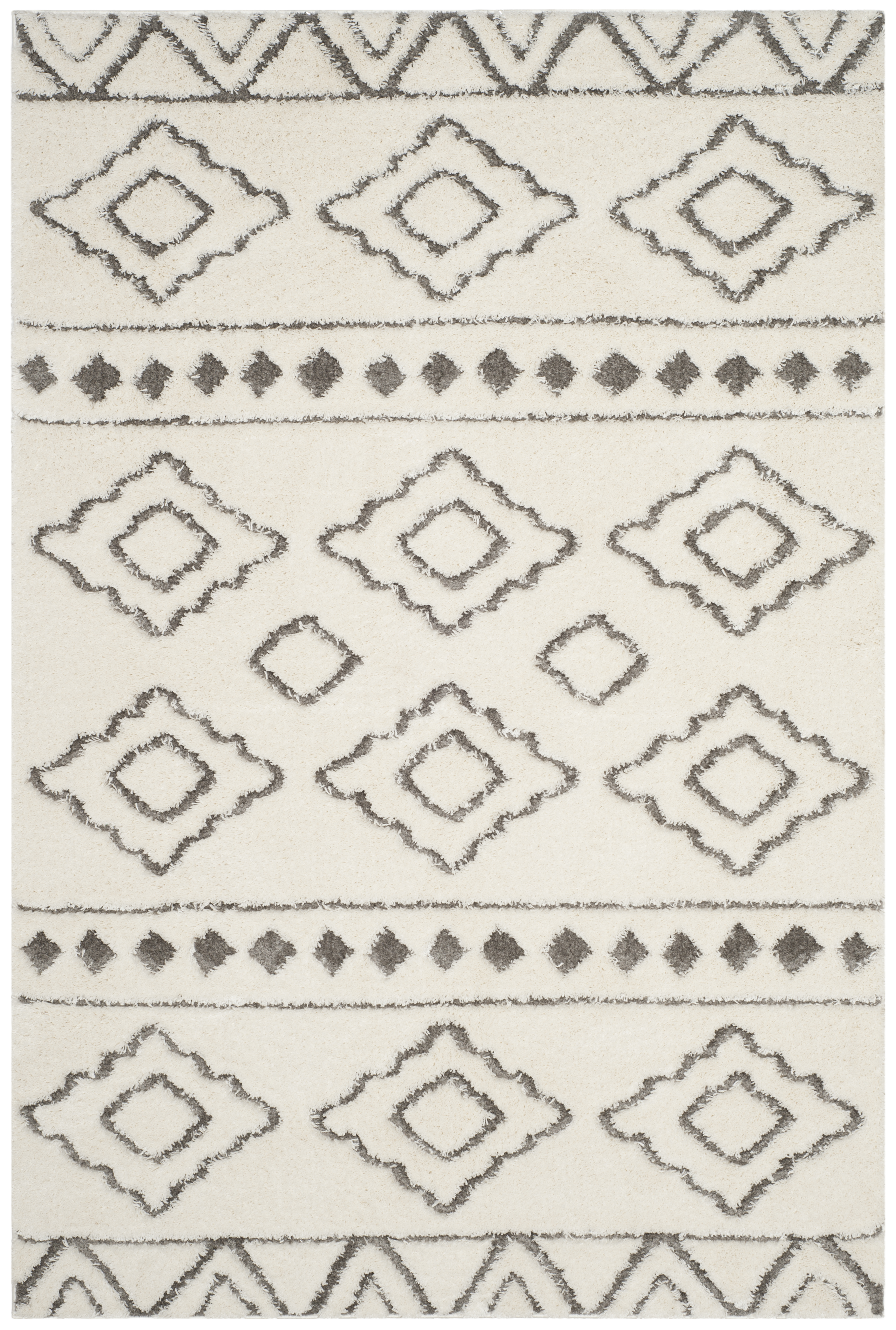 Dylan 513 4' X 6' Ivory Polyester Rug