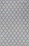 Arabesque Ogee Trellis Indoor/Outdoor  Gray/Teal 5 ft. x 8 ft. Area Rug