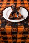 Halloween Woven Check Tablecloth 60x84