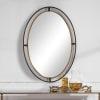 Rustic Bronze Oval Wall Mirror