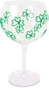 Green Shamrocks - Hand Decorated Glass