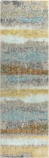 Contemporary POP Modern Abstract Vintage Cream/Yellow 2.25' x 8' Runner Rug