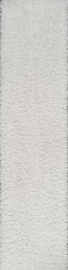 Shag Plush White 2.25' x 8' Rectangular Runner Rug