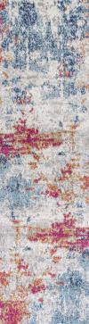 Sunset Modern Abstract Blue/Multi 2.25' x 8' Runner Rug