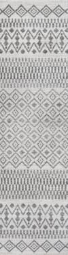 Berber Geometric Stripe Cream/Gray 2' x 8' Runner Rug