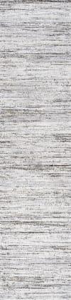 Loom Modern Strie'  Gray/Black 2' x 8' Runner Rug