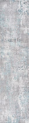 Timeworn Modern Abstract Gray/Turquoise 2' x 8' Runner Rug