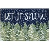 Let It Snow In/Out Rug Midnight 2' x 3'