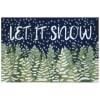Let It Snow Outdoor Rug 2'6