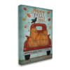 Happy Fall Y'all Autumn Harvest Red Truck Wall Art