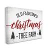 Red Christmas Rustic Tree Farm Sign Wall Art