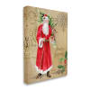 Vintage Santa Claus Vintage Christmas Postal Design Wall Art