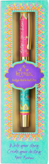 Follow Your Heart - Boxed Gift Pen with Indigo (Purple) Ink