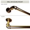 1 inch Pipe Blackout Curtain Rod 120-170 inch - Antique Brass (3pcs)