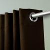 Room Darkening Curtain 108 inch Height - 1 Panel - Size: 120Wx108H - Chocolate