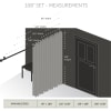 Room Darkening Curtain 108 inch Height - 1 Panel - Size: 180Wx108H - Beige