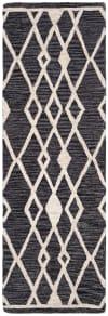 Essence Black Wool Rug 2'25