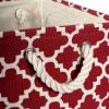 Polyester Bin Lattice Rust Rectangle Small 14x8x9