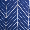 Polyester Bin Herringbone Nautical Blue Rectangle Small 14x8x9