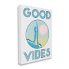 Good Vibes Text Blue Surfer Chick Sunset Super Wall Art