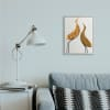 Modern Rustic Tree Patterned Birds Minimal Abstract Gray Oversized Framed Giclee Texturized Art by Daphne Polselli 16 x 20