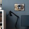 Big Horned Ram Abstract Dreamlike Portrait Black Framed Giclee Texturized Art