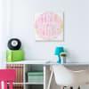 Girls Rule Phrase Pink Retro Tie Dye Pattern Wall Art