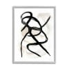 Abstract Paint Strokes Layered Black Brown Gray  Framed Giclee Texturized Art by Daphne Polselli 11 x 14