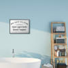 Don't Flush Disposable Garbage Items Bathroom Sign Black Framed Giclee Texturized Art by Daphne Polselli
