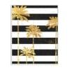 Golden Palm Trees Bold Black White Stripes Wall Plaque Art by Ziwei Li 10 x 15