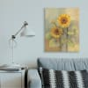 Sunflower Bloom Soft Yellow Summer Petals XXL Stretched Canvas Wall Art by Albena Hristova 30 x 40