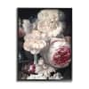 Blushing Floral Petals Enchanting Pink White Flowers Black Framed Giclee Texturized Art by Ziwei Li 11 x 14