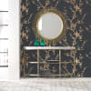 Cynthia Rowley Black & Gold Bird Self-Adhesive Removable Wallpaper Double Roll